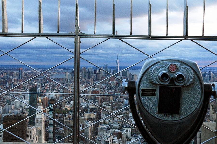 Vue depuis le 82ème étage de l'Empire State Building