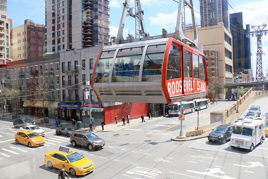 Téléphérique pour aller sur Roosevelt Island à New York