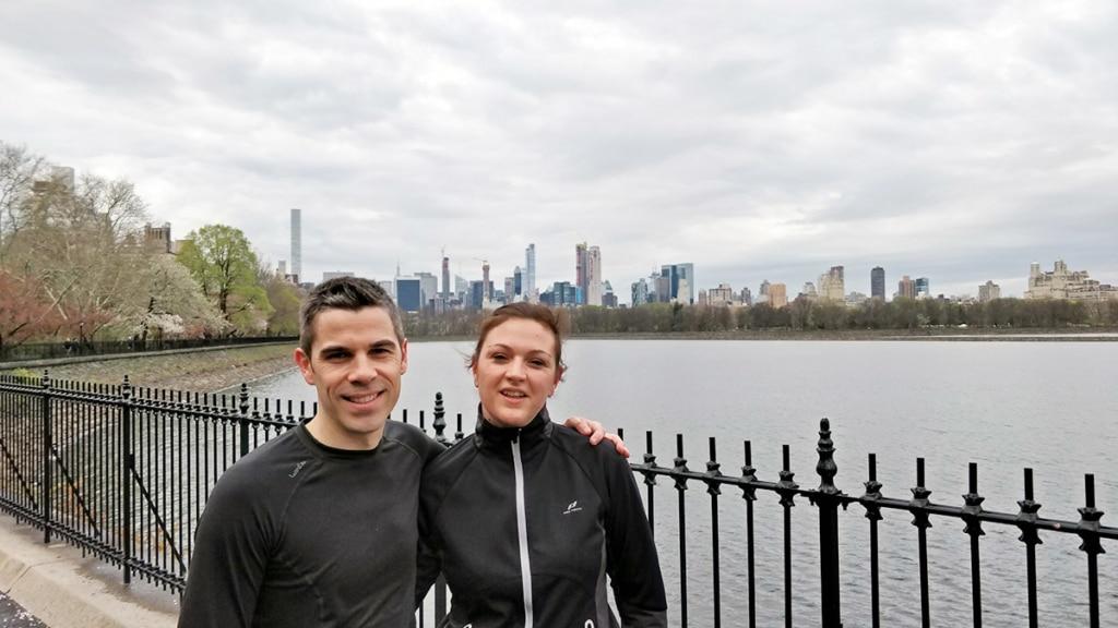 Anne et Antoine lors d'un footing à Central Park