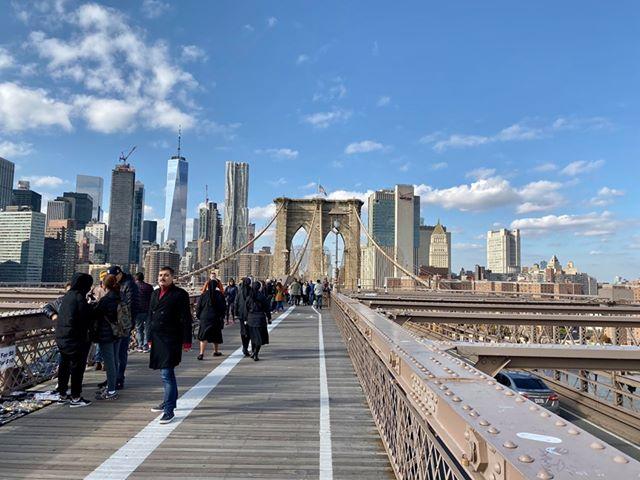 Traversée du pont de Brooklyn