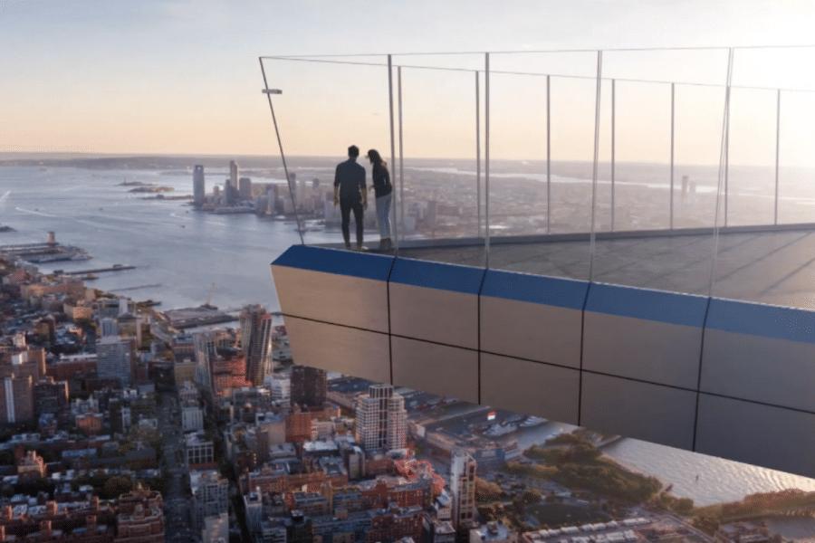 The Edge, l'observatoire avec un sol en verre à New York