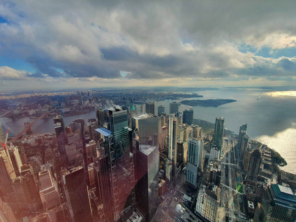 Vue sur Brooklyn depuis le One World Observatory