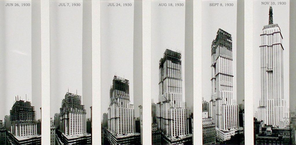 Avancée de la construction de l'Empire State Building en 1930