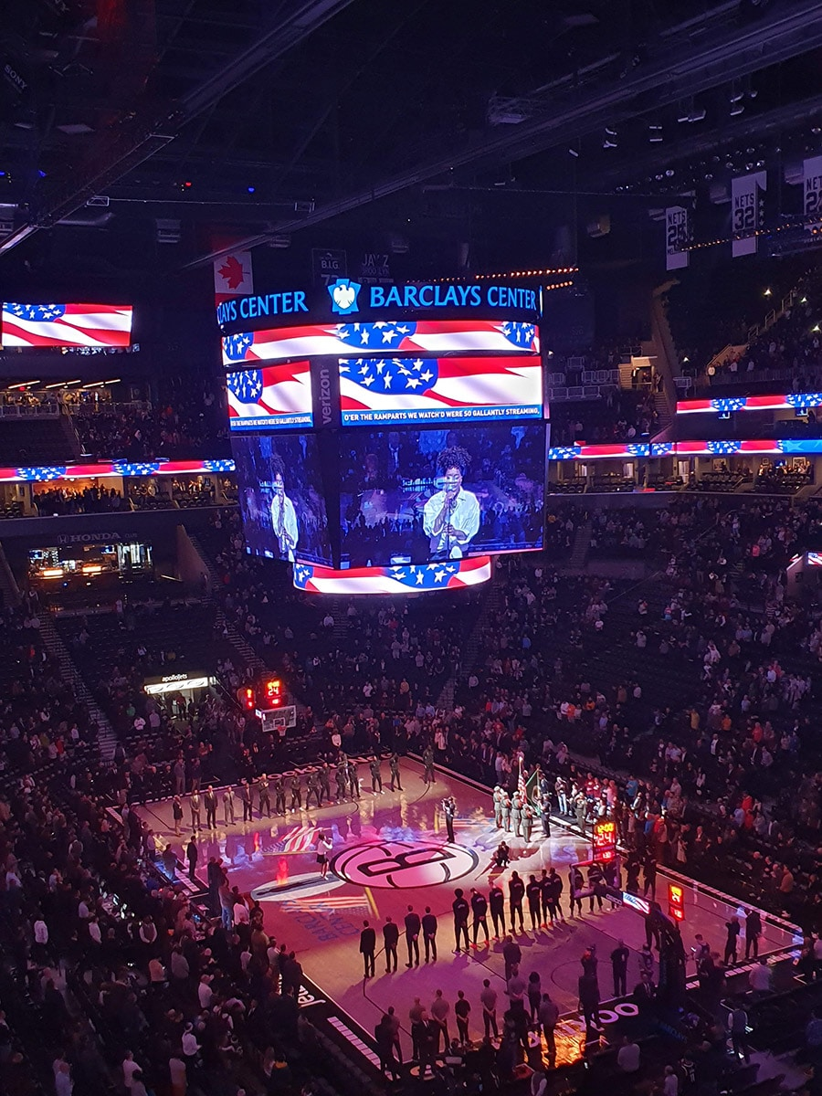 Hymne national USA au Barclays Center, Brooklyn Nets