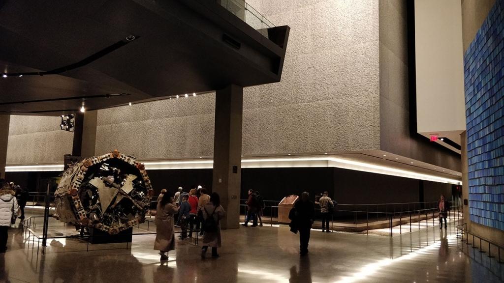 Intérieur musée 11 septembre New York