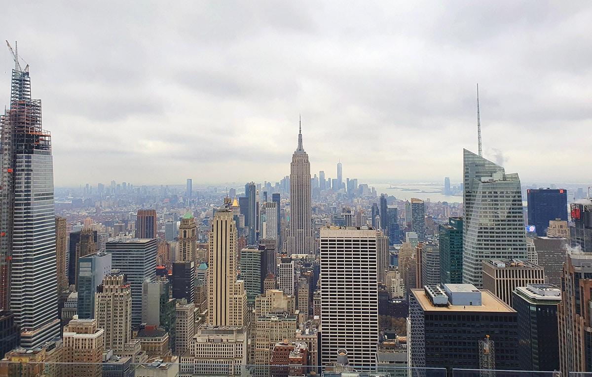 Vue sur l'Empire State Building depuis le Top of the Rock