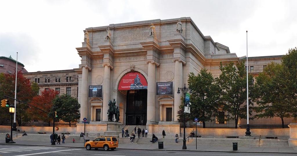 Extérieur du musée d'histoire naturelle de New York.