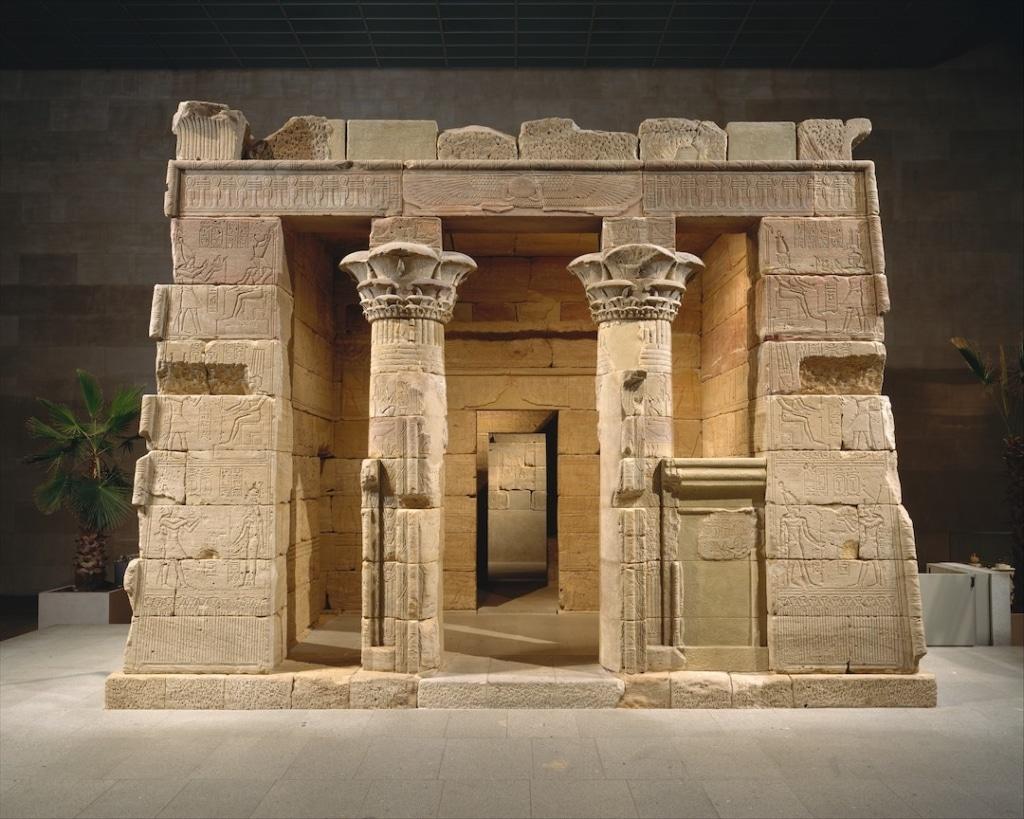 Temple égyptien de Dendur présent dans le MET.