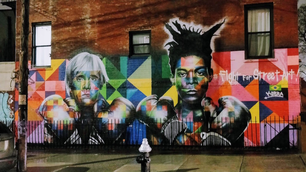 Street art de Jean-Michel Basquiat et Andy Warhol à New York