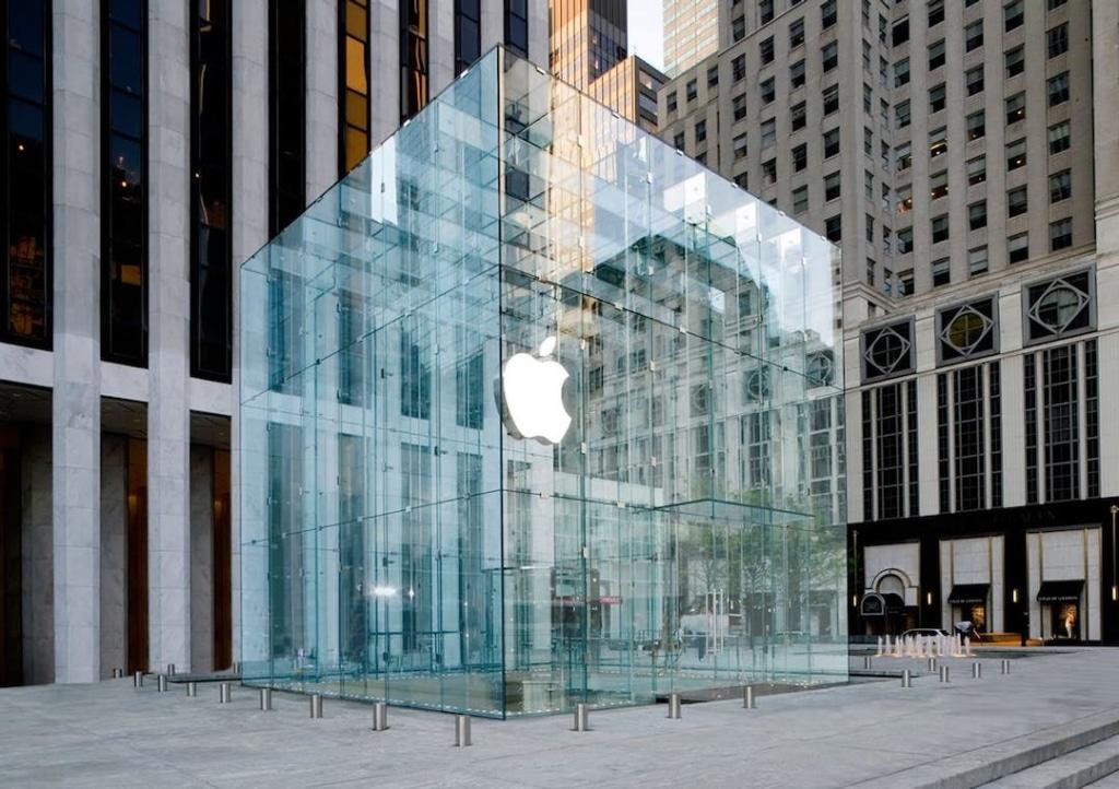 Bâtiment en verre de l'Apple Store sur la 5ème avenue à New York