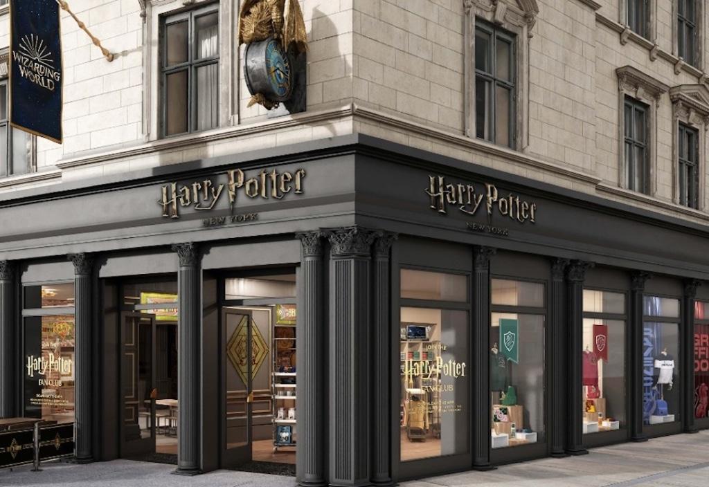Extérieur du magasin Harry Potter à New York