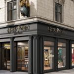 Extérieur du magasin Harry Potter à New York