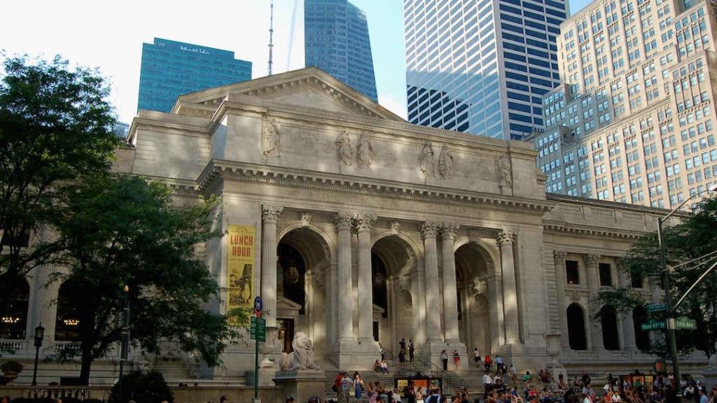 Extérieur de la bibliothèque publique de New York