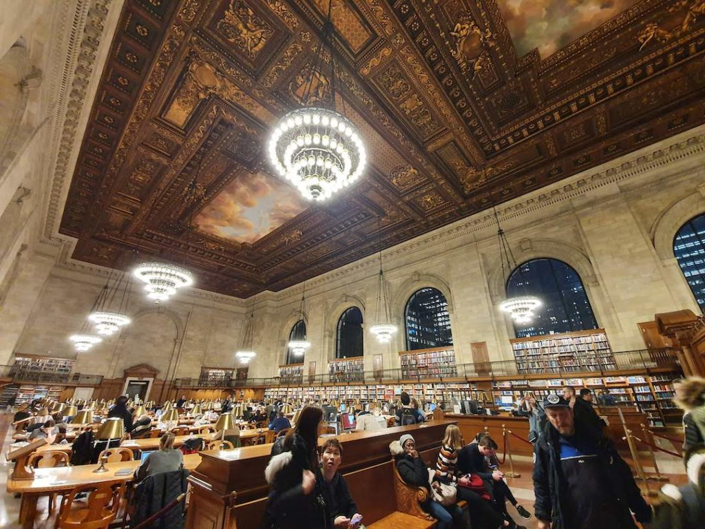 Intérieur de la New York Public Library, la bibliothèque de New York