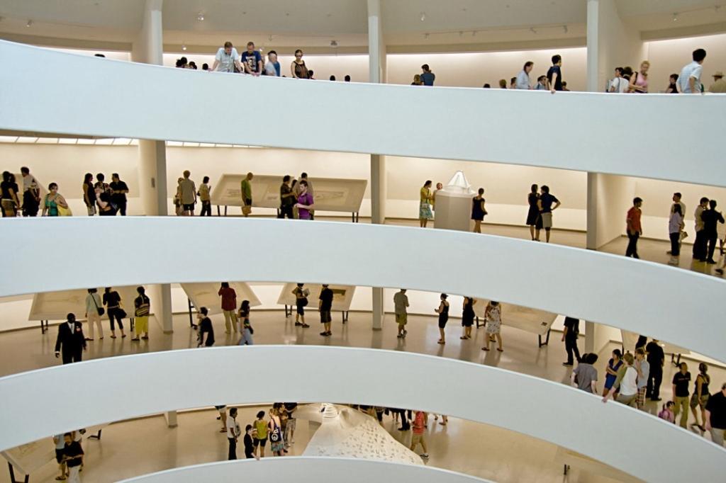 Intérieur du Musée Guggenheim à New York