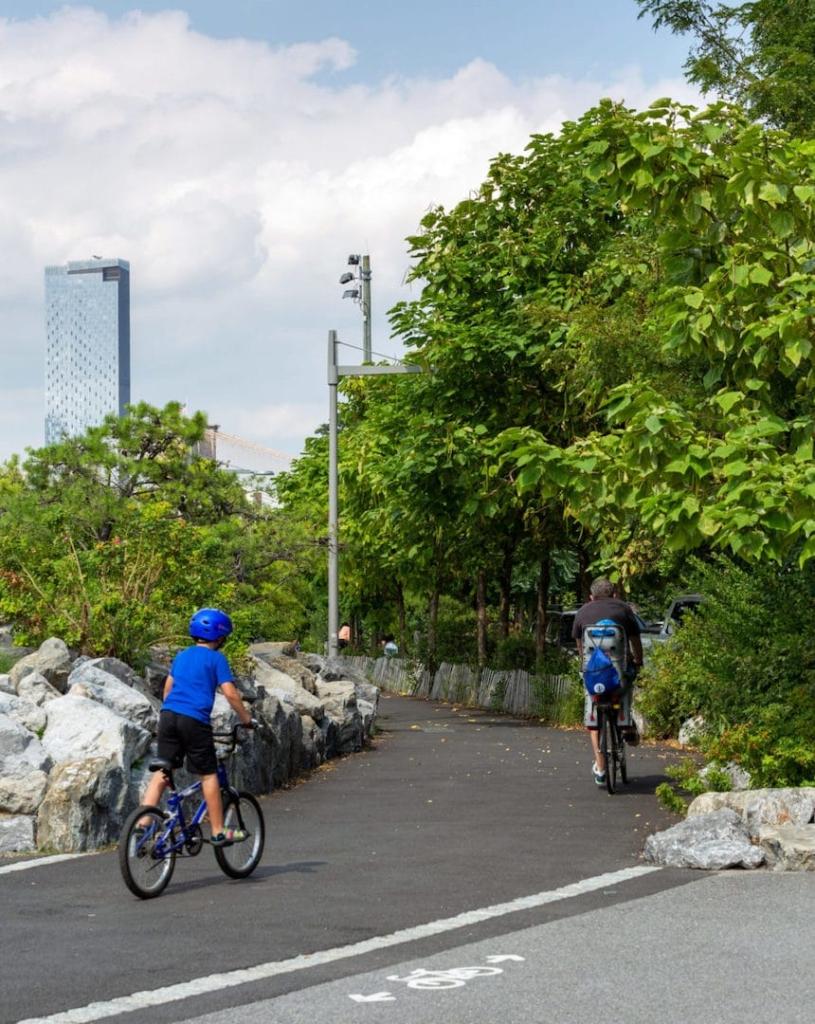 Pistes cyclables du Brooklyn Bridge Park