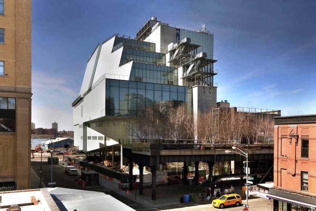 Extérieur du Whitney Museum d'art américain à New York