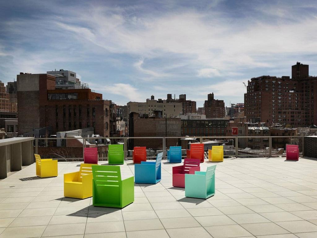 Rooftop du Whitney Museum d'art américain à New York