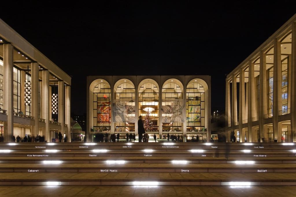 Lincoln Center à New York de nuit