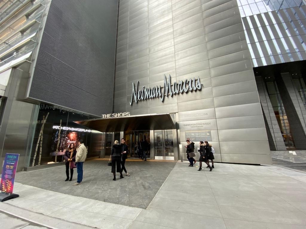 Entrée du centre commercial Hudson Yards à New York