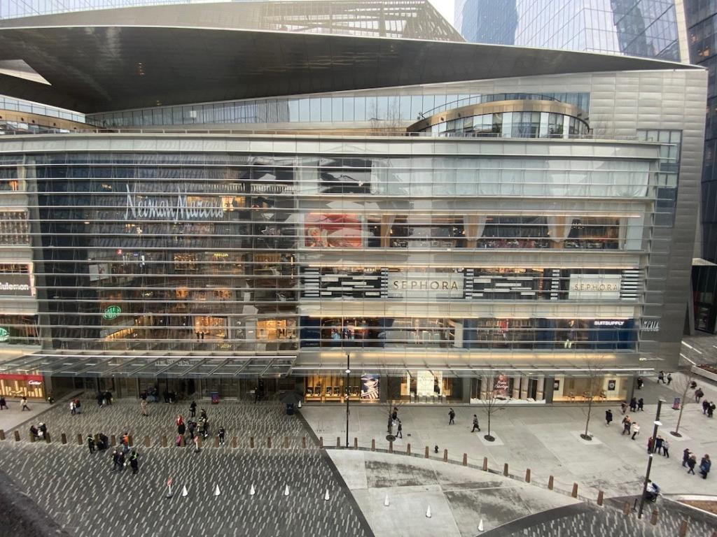 Vue d'en haut du centre commercial Hudson Yards à New York