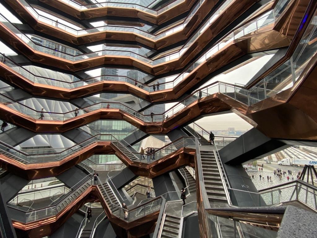 Intérieur de The Vessel à New York