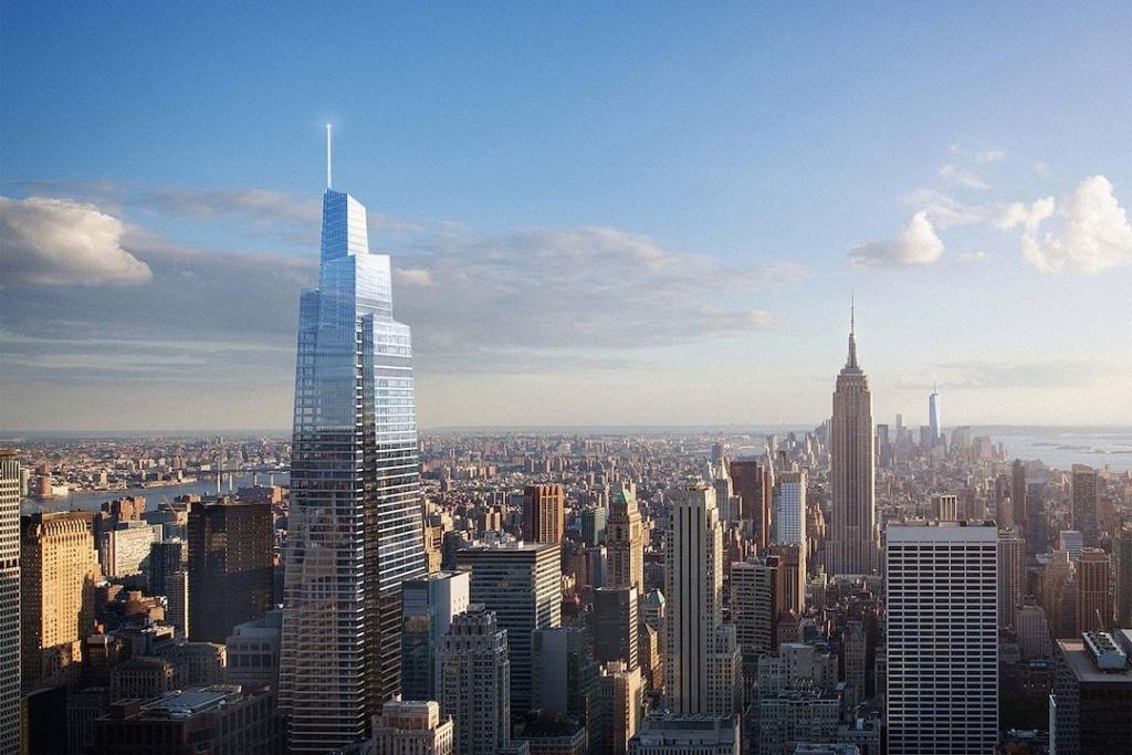 One Vanderbilt Summit avec l'Empire State Building et autres buildings en fond