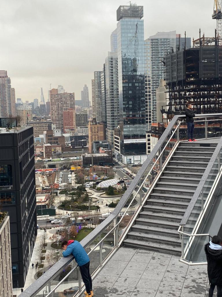 Vue du quartier Hudson Yards depuis The Vessel à New York