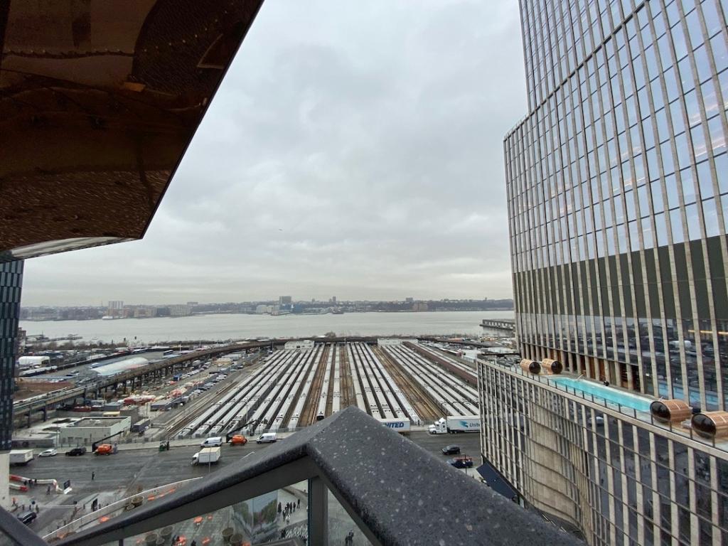 Vue de New Jersey et le Hudson River depuis The Vessel à New York