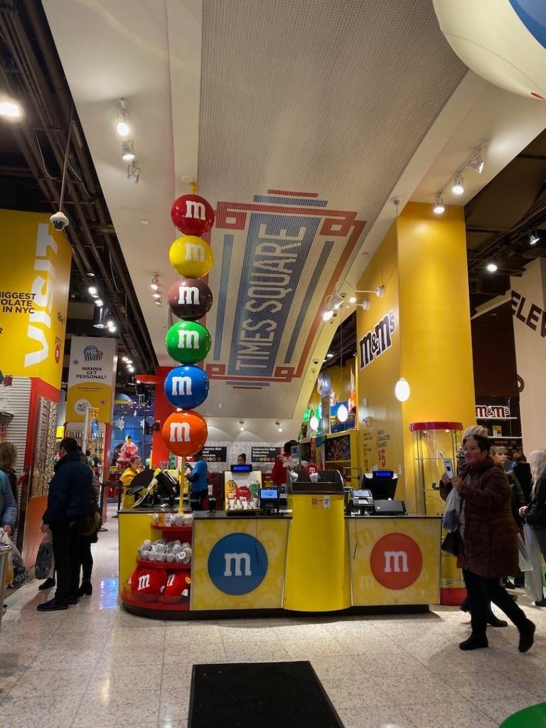 Caisses dans le M&M's World à New York