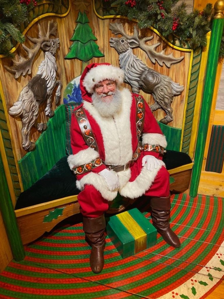 Père Noël à Santa Land à New York